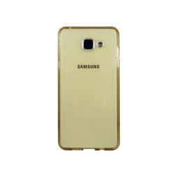 Samsung Galaxy A5 (2016) - Gumiran ovitek (TPUD) - rob oranžen