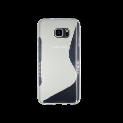 Samsung Galaxy S7 Edge - Gumiran ovitek (TPU) - belo-prosojen SLine
