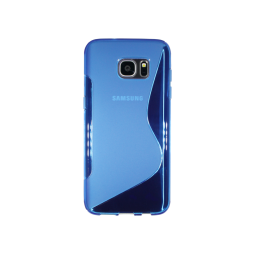 Samsung Galaxy S7 Edge - Gumiran ovitek (TPU) - modro-prosojen SLine