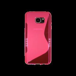 Samsung Galaxy S7 Edge - Gumiran ovitek (TPU) - roza-prosojen SLine