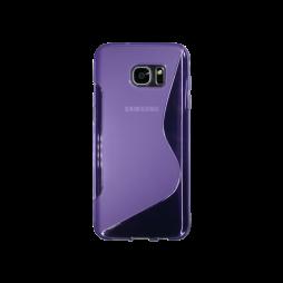 Samsung Galaxy S7 Edge - Gumiran ovitek (TPU) - vijolično-prosojen SLine