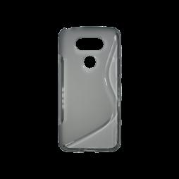 LG G5/G5 SE - Gumiran ovitek (TPU) - sivo-prosojen SLine