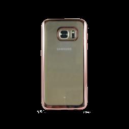 Samsung Galaxy S7 - Gumiran ovitek (TPUE) - rob roza-zlat