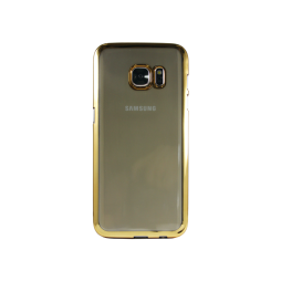 Samsung Galaxy S7 - Gumiran ovitek (TPUE) - rob zlat
