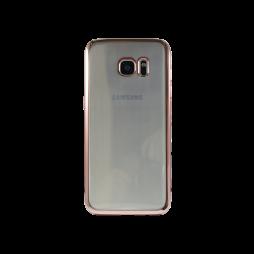 Samsung Galaxy S7 Edge - Gumiran ovitek (TPUE) - rob roza-zlat