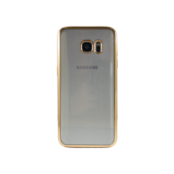 Samsung Galaxy S7 Edge - Gumiran ovitek (TPUE) - rob zlat
