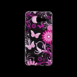 Samsung Galaxy A3 (2016) - Gumiran ovitek (TPUP) - Pinky flowers dark
