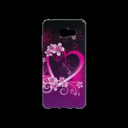 Samsung Galaxy A3 (2016) - Gumiran ovitek (TPUP) - Black pink heart
