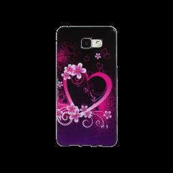 Samsung Galaxy A5 (2016) - Gumiran ovitek (TPUP) - Black pink heart