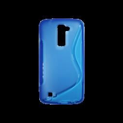 LG K10 - Gumiran ovitek (TPU) - modro-prosojen SLine