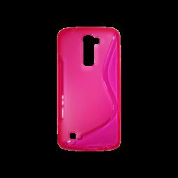 LG K10 - Gumiran ovitek (TPU) - roza-prosojen SLine