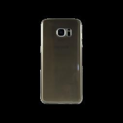 Samsung Galaxy S7 Edge - Gumiran ovitek (TPUA) - sivo-prosojen