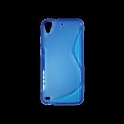 HTC Desire 530/630 - Gumiran ovitek (TPU) - modro-prosojen SLine