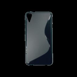 HTC Desire 825/10 Lifestyle - Gumiran ovitek (TPU) - črn SLine