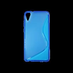 HTC Desire 825/10 Lifestyle - Gumiran ovitek (TPU) - modro-prosojen SLine