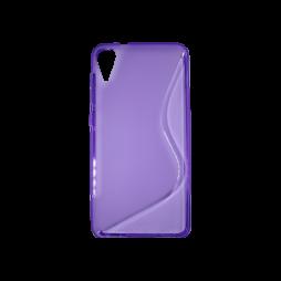 HTC Desire 825/10 Lifestyle - Gumiran ovitek (TPU) - vijolično-prosojen SLine
