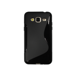 Samsung Galaxy J3 (2016) - Gumiran ovitek (TPU) - črn SLine