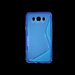 Samsung Galaxy J7 (2016) - Gumiran ovitek (TPU) - modro-prosojen SLine
