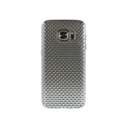 Samsung Galaxy S7 - Gumiran ovitek (TPUE) - prepletenka srebrna