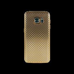 Samsung Galaxy S7 - Gumiran ovitek (TPUE) - prepletenka zlata