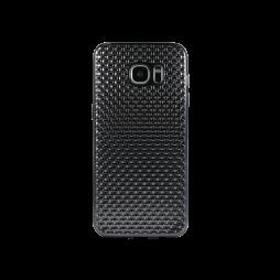 Samsung Galaxy S7 Edge - Gumiran ovitek (TPUE) - prepletenka črna