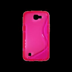 LG K4 - Gumiran ovitek (TPU) - roza-prosojen SLine