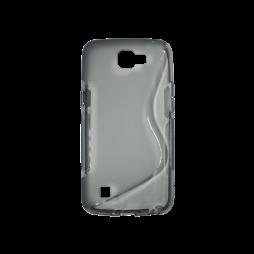 LG K4 - Gumiran ovitek (TPU) - sivo-prosojen SLine