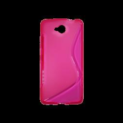 Microsoft Lumia 650 - Gumiran ovitek (TPU) - roza-prosojen SLine