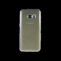Samsung Galaxy S7 - Gumiran ovitek (TPUE) - rob srebrn