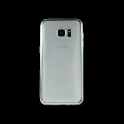 Samsung Galaxy S7 Edge - Gumiran ovitek (TPUE) - rob srebrn