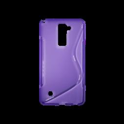 LG Stylus 2 - Gumiran ovitek (TPU) - vijolično-prosojen SLine