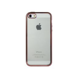Apple iPhone 5/5S/SE - Gumiran ovitek (TPUE) - rob roza