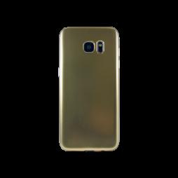 Samsung Galaxy S7 Edge - Gumiran ovitek (TPUE) - mat zlat