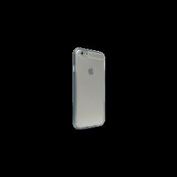 Apple iPhone 6/6S - Gumiran ovitek (TPU+ALU) - siv