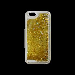 Apple iPhone 6/6S - Okrasni pokrovček (polnilo srčki) - rumena