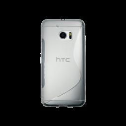HTC 10/10 Lifestyle - Gumiran ovitek (TPU) - belo-prosojen SLine