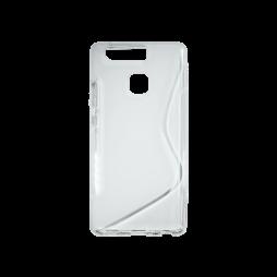 Huawei P9 - Gumiran ovitek (TPU) - belo-prosojen SLine