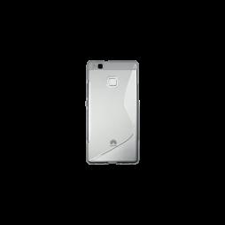 Huawei P9 Lite - Gumiran ovitek (TPU) - belo-prosojen SLine