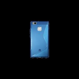 Huawei P9 Lite - Gumiran ovitek (TPU) - modro-prosojen SLine