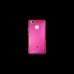 Huawei P9 Lite - Gumiran ovitek (TPU) - roza-prosojen SLine