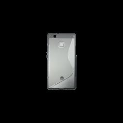 Huawei P9 Lite - Gumiran ovitek (TPU) - sivo-prosojen SLine