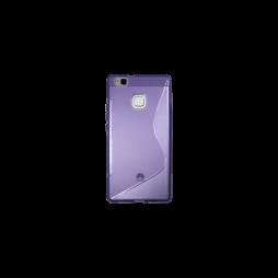 Huawei P9 Lite - Gumiran ovitek (TPU) - vijolično-prosojen SLine