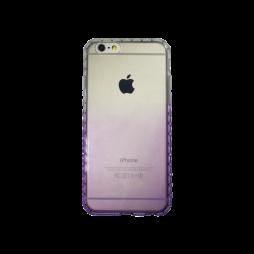 Apple iPhone 6/6S - Gumiran ovitek (TPUD) - vzorčast rob preliv vijoličen