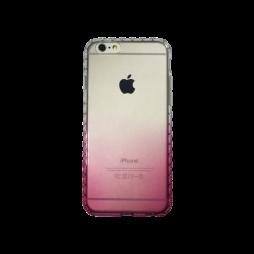 Apple iPhone 6Plus/6SPlus - Gumiran ovitek (TPUD) - vzorčast rob preliv roza