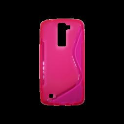 LG K8 - Gumiran ovitek (TPU) - roza-prosojen SLine