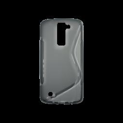 LG K8 - Gumiran ovitek (TPU) - sivo-prosojen SLine