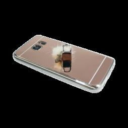 Samsung Galaxy S7 Edge - Gumiran ovitek (TPUE) - ogledalo roza