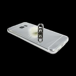 Samsung Galaxy S7 Edge - Gumiran ovitek (TPUE) - ogledalo srebrno