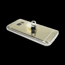 Samsung Galaxy S7 Edge - Gumiran ovitek (TPUE) - ogledalo zlato