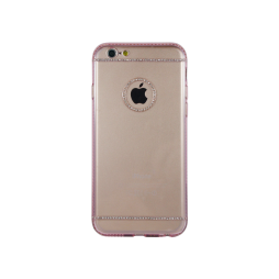 Apple iPhone 6/6S - Gumiran ovitek (TPUD) - vzorec 4 roza